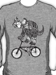 Triceratops on a Bike  T-Shirt