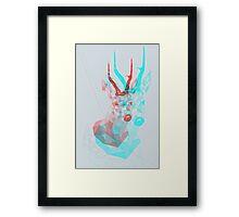 psychedelic deer Framed Print