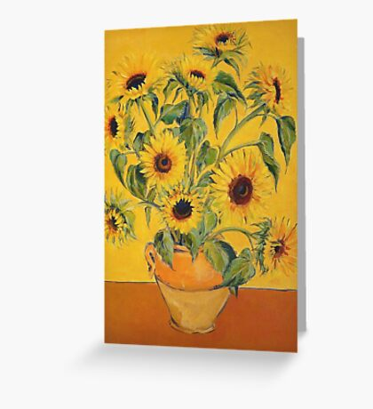 'A Brush with Vincent'.  Greeting Card