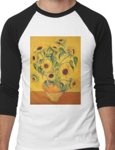 'A Brush with Vincent'.  Men's Baseball ¾ T-Shirt