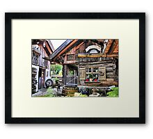 Nice Cottage in Bavaria Framed Print