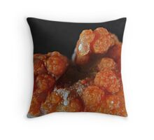 Red Grape Agate Cluster Throw Pillow