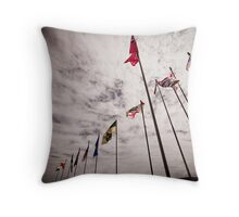Flags of a Nation Throw Pillow
