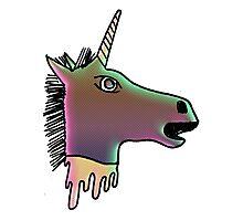 uni the severed unicorn head Photographic Print
