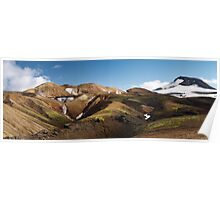 Landmannalaugar mountains Poster