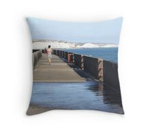 Distant Curves Throw Pillow