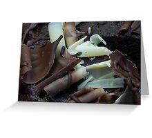 Chocolate curls Greeting Card