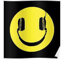 SMILEY FACE MUSIC LOVER HEADPHONES Poster