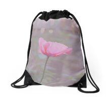 Vintage Poppy Drawstring Bag