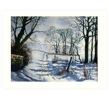 Winter Walk to Dane's Dyke Art Print