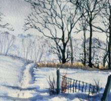Winter Walk to Dane's Dyke Sticker