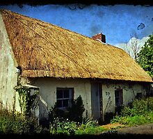 Old Irish thatch cottage, county clare, Ireland by upthebanner