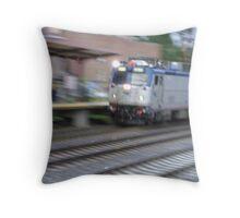Amtrak at speed  Throw Pillow