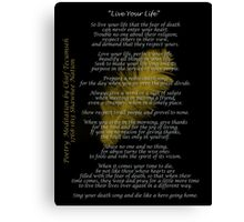 """""""Live Your Life""""  Golden feather by Chief Tecumseh Canvas Print"""