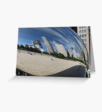 Chicago Reflections Greeting Card
