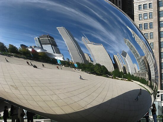 Chicago Reflections by Jeanne Horak-Druiff