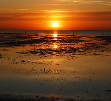 sunset at minis bay kent by iwasframed