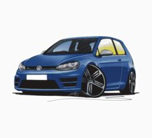 VW Golf (Mk7) R Blue One Piece - Long Sleeve