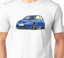 VW Golf (Mk7) R Blue Unisex T-Shirt