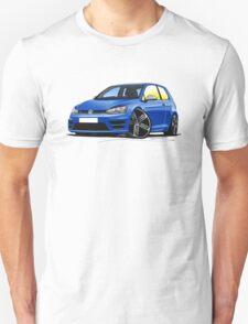 VW Golf (Mk7) R Blue T-Shirt