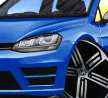 VW Golf (Mk7) R Blue Sticker