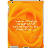 I Can Do All Things - Orange Rose  iPad Case/Skin