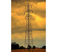 Tower Against Autumn Sky Photographic Print