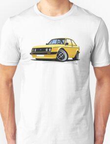 Ford Escort (Mk2) RS2000 Yellow T-Shirt