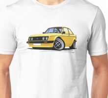 Ford Escort (Mk2) RS2000 Yellow Unisex T-Shirt