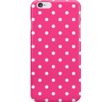 White And Pink Polka Dots iPhone Case/Skin