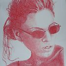 Girl Scribble Doodle by Christopher Clark