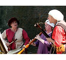 Medieval Female Musicians  Photographic Print