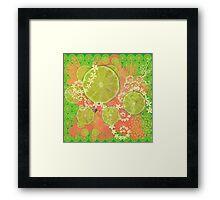 Lime Feast Framed Print