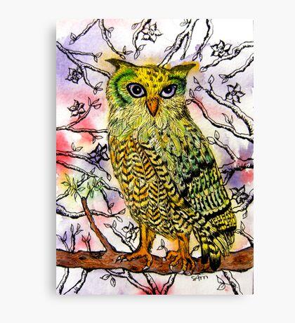Yellow Owl Canvas Print