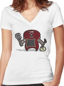 Dr. Frankenstein's Guitar Women's Fitted V-Neck T-Shirt