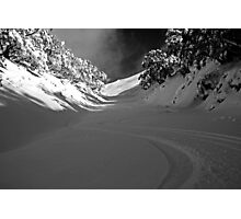 First Tracks Photographic Print