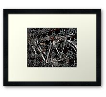 Land of bicycles Framed Print