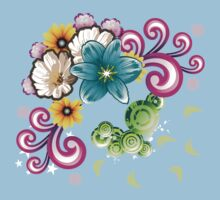 Watercolor wildflowers bouquet Kids Clothes