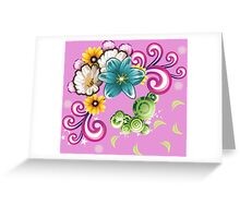 Watercolor wildflowers bouquet Greeting Card