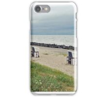 Empty beach chairs iPhone Case/Skin