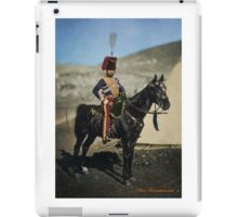 Hussar from the Crimean War - Colourised photo iPad Case/Skin