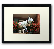 It Is Well Known, The Swiss Love Their Cows... Framed Print