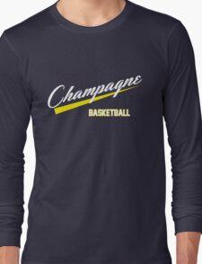 Champagne Basket 1 Blue Long Sleeve T-Shirt