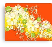 Lime Waves Canvas Print