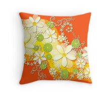 Lime Waves Throw Pillow