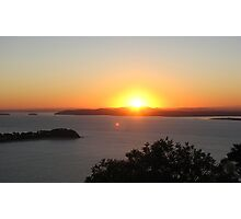 Sunset over Port Stephens - 2 Photographic Print