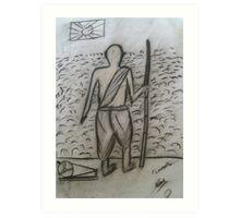 The Mahatma...!! Art Print