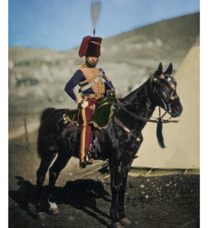 Hussar from the Crimean War - Colourised photo Sticker