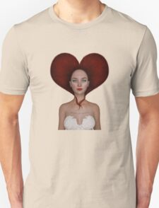 Queen of hearts portrait T-Shirt