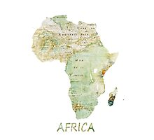 Africa map 1 Photographic Print